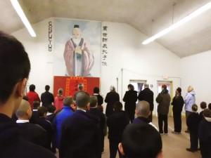 2011年2月3日,農曆正月初一,培德中學、育良小學男校全體師生為了表達對祖先的感恩以及尊敬,依照傳統在道源堂舉行祭祖典禮。